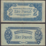 Hungary 2 Pengo 1944 (F+) Condition P-M3 Banknote Russian Occ. - Hongrie