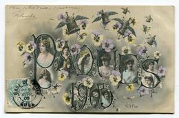 CPA Fantaisie : PAQUES  1905    A VOIR !!!!! - Fancy Cards