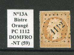 FRANCE- Y&T N°13A- PC 1112 (DOMFRONT 59) - Marcophilie (Timbres Détachés)