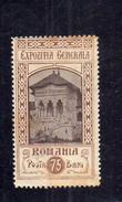 ROMANIA KINGDOM REGNO DI 1906 GENERAL EXPOSITION EXHIBITION JUBILEE BUILDINGS 75b MH - 1881-1918: Carol I