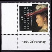 BRD Mi. Nr. 2550 ** Eckrand Unten Links (A-4-31) - BRD