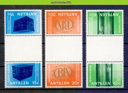 Mwa0573a BANK SCHATKIST KLUISDEUR  SAFE DOOR TREASURE BOX * BRUGPAAR GUTTERPAIR * NEDERLANDSE ANTILLEN 1978 PF/MNH - Antillen