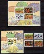 Tanzania 2004 Mining.minerals,diamond,jewel.2 S/S And Stamps. MNH - Tanzania (1964-...)