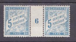 N°28 Taxes Millésimes 5c Bleu N°6 Timbres Neuf Sans Gomme - Millesimes