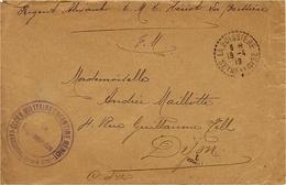 """1918- Enveloppe En F M Le LA BOISSIERE ( Seine Et Oise )  """" ECOLE MILITAIRE ENFANTINE NERIOT  / LA BOISSIERE  """" - Marcophilie (Lettres)"""
