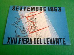 Cartolina Bari - XVII Fiera Del Levante ( Settembre 1953 ) - Bari
