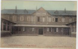 PETIT QUEVILLY L'ECOLE PASTEUR COLORISEE GLACEE 1924 TBE - France