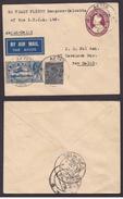 India BURMA KGV 1933   AKYAB - DELHI  F/F Cover BY THE I.T.C.A.  F/F  Cover 118  #  95561   Inde - 1911-35 King George V