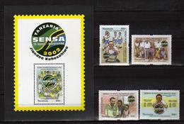 Tanzania 2002 National Population Census. S/S And Stamps. MNH - Tanzania (1964-...)