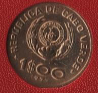 CABO VERDE 1 ESCUDO 1977 ESTUDAR APRENDER SEMPRE  KM# 17 - Cap Vert