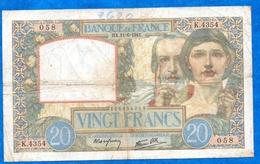 France - Science Et Travail - 20 Frs Du 11 06 1941 ( K.4354 ) Cat Fayette N° 12   Usagé - 1871-1952 Circulated During XXth