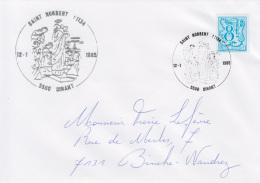 Enveloppe (1985-01-12, 5500 Dinant) LH - Légende De St-Norbert - PL - Poststempels/ Marcofilie