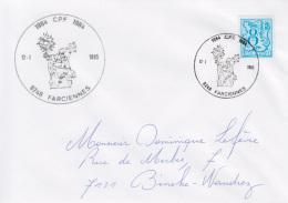 Enveloppe (1985-01-12, 6240 Farciennes) LH - St-Norbert - DL - Poststempels/ Marcofilie