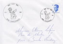 Enveloppe (1985-01-12, 6240 Farciennes) RB - St-Norbert - EL - Poststempels/ Marcofilie
