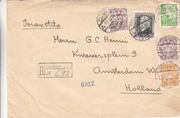 Lettonie - Lettre Recom De 1938 ° - Oblit Kandava - Exp Vers Amsterdam - Avec Vignette De Fermeture - Lettonie