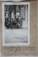 Photo AUDERGHEM 1928 Clef D'Aderghem Officiers à La Terrasse Du Café Brasserie - Places