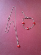 Ensemble En ARGENT (enfant) Chaine- 19cm + Bracelet- 4x4cm - Joyas & Relojería