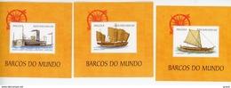 Angola 1999-Bateaux Anciens-YT B62+64+66***MNH - Ships