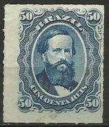 Brazil - 1877 Dom Pedro 50r Unused No Gum (rouletted)   Sc 63 - Gebraucht