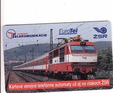 Slovakia, Chip Phonecard, Train - Slovaquie