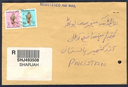 D304- UAE. United Arab Emirates Postal Used Cover, Send To Pakistan. Birds. Eagle. - United Arab Emirates