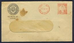 D305- British India Postal Used Envelope. Post To Lahore Pakistan. - India