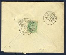 D307- British India Patiala State Postal Used Envelope. - India