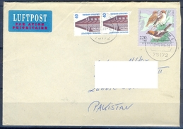 D320- Postal Used Cover Post From Germany To Pakistan. Birds. - Germany