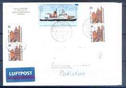 D322- Postal Used Cover Post From Germany To Pakistan. Ship. - Germany