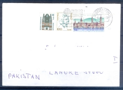 D324- Postal Used Cover Post From Germany To Pakistan. Building. Famous People. - Germany