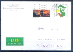 D325- Postal Used Cover Post From Germany To Pakistan. - Germany