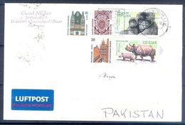 D326- Postal Used Cover Post From Germany To Pakistan. Animals. Joint Issue. - Germany