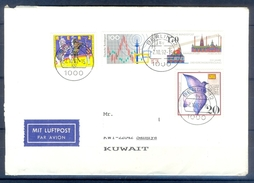 D330- Postal Used Cover Post From Germany To Pakistan. Birds. - Germany