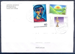 D331- Postal Used Cover Post From Germany To Pakistan. Joint Issue. Painting. - Germany
