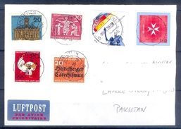 D333- Postal Used Cover Post From Germany To Pakistan. Sports. Games. - Germany