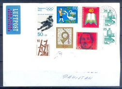 D335- Postal Used Cover Post From Germany To Pakistan. Book. Birds. Olympic. - Germany
