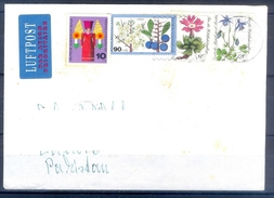 D336- Postal Used Cover Post From Germany To Pakistan. Flowers. - Germany