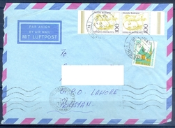 D337- Postal Used Cover Post From Germany To Pakistan. Famous People. Building. - Germany
