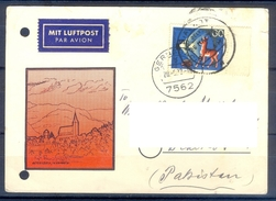 D339- Postal Used Post Card Post From Germany To Pakistan. Animals. RARE. - Germany