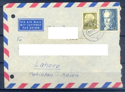 D340- Postal Used Cover Post From Germany To Pakistan. Famous People. - Germany