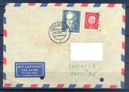D344- Postal Used Cover Post From Germany To Pakistan. - Germany