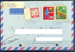 D345- Postal Used Cover Post From Germany To Pakistan. - Germany