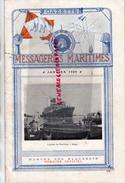 BATEAU - GAZETTE MESSAGERIES MARITIMES- JANVIER 1920- L' ARRIVEE DU PAQUEBOT PAUL LECAT A SAIGON- SAUPIQUET NANTES- - Boats