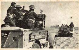 FRANCE LIBRE  CHARS FRANÇAIS PARANT A L´ASSAUT EN LIBYE - Guerre 1939-45