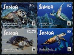 SAMOA - 2016 - Faune En Danger Wwf, Tortues - B4 Val Sans Marges Blanches Neufs // Mnh - Samoa