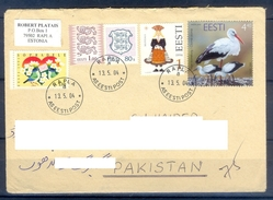 D351- Postal Used Cover Post From Estonia To Pakistan. Joint Issue. Birds. - Estonia