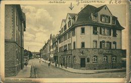 AK Mühlacker, Poststrasse, O 1914, Rechter Rand Oxidiert (dunkel), Eckknicke, Ecken Bestoßen (18577) - Mühlacker