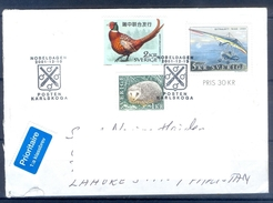 D354- Postal Used Cover Post From Sweden To Pakistan. Joint Issue. Birds. - Sweden