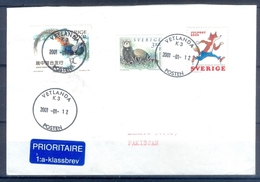 D355- Postal Used Cover Post From Sweden To Pakistan. Joint Issue. Birds. - Sweden