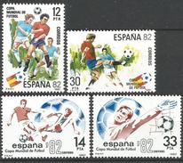 Espagne 1981 2241-42 ** Football - Espagne 1982 2272-73 ** Football Coupe Du Monde Espagne - 1931-Aujourd'hui: II. République - ....Juan Carlos I